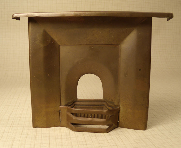 Brass Fireplace with Coal Fender #202-01 - Antique Dollhouse Furniture