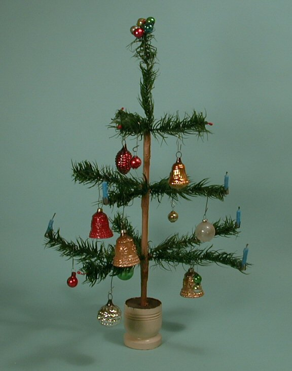 miniature german goose feather christmas tree 170 14 sold - Feather Christmas Trees